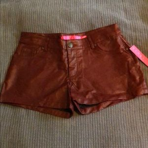 Tinseltown Leather Shorts
